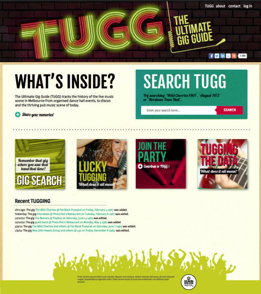 TUGG screen design