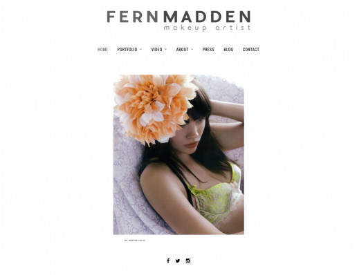 Wordpress build for Make-up Artist, Fern Madden