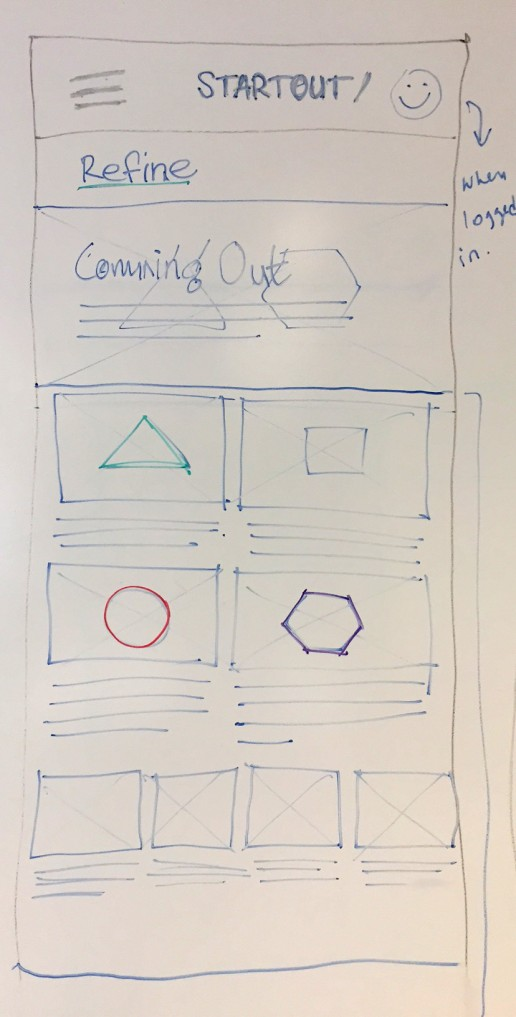 Sketches - landing page